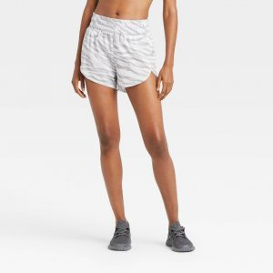 Animal Print Mid-Rise Run Shorts